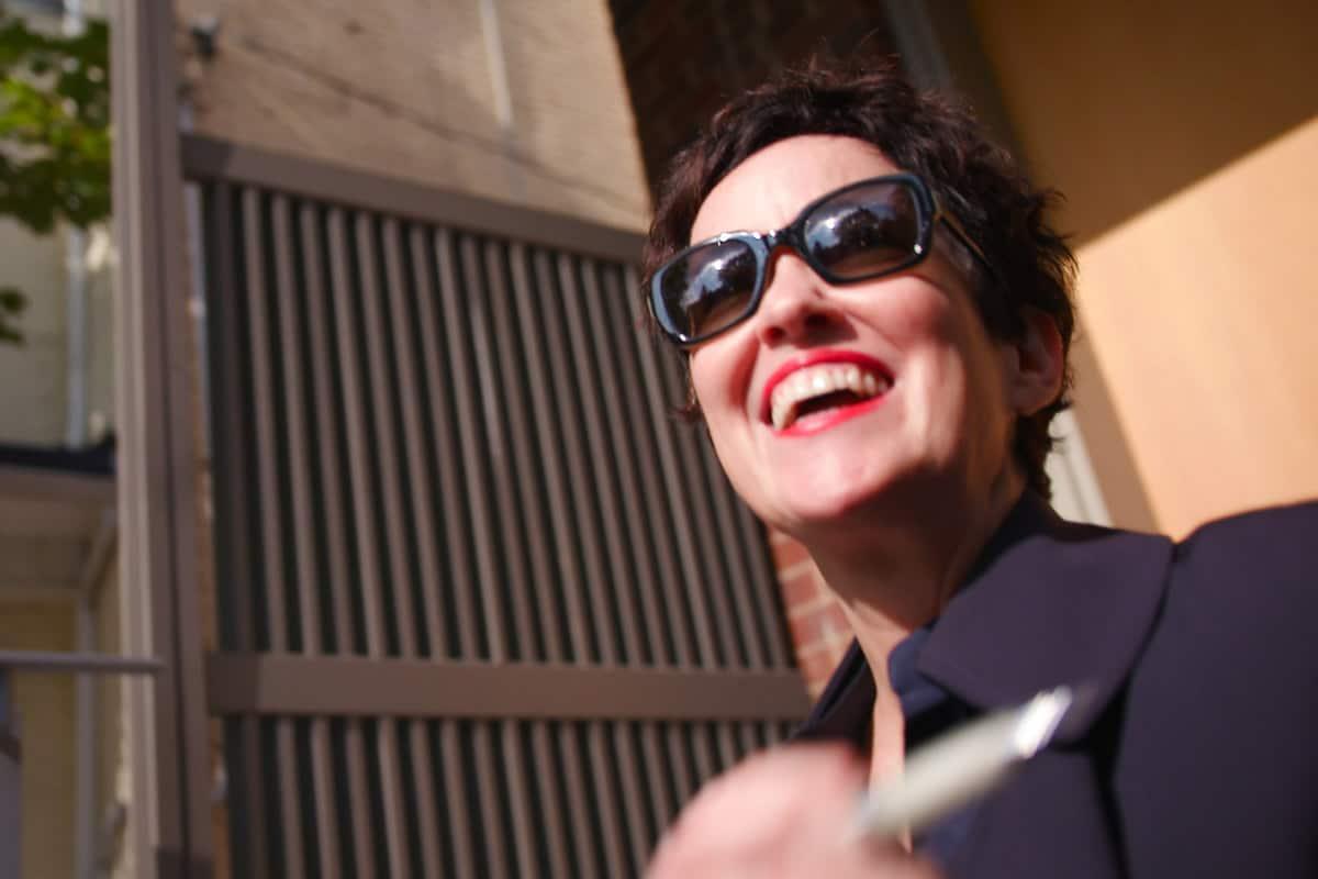 Julia smiling
